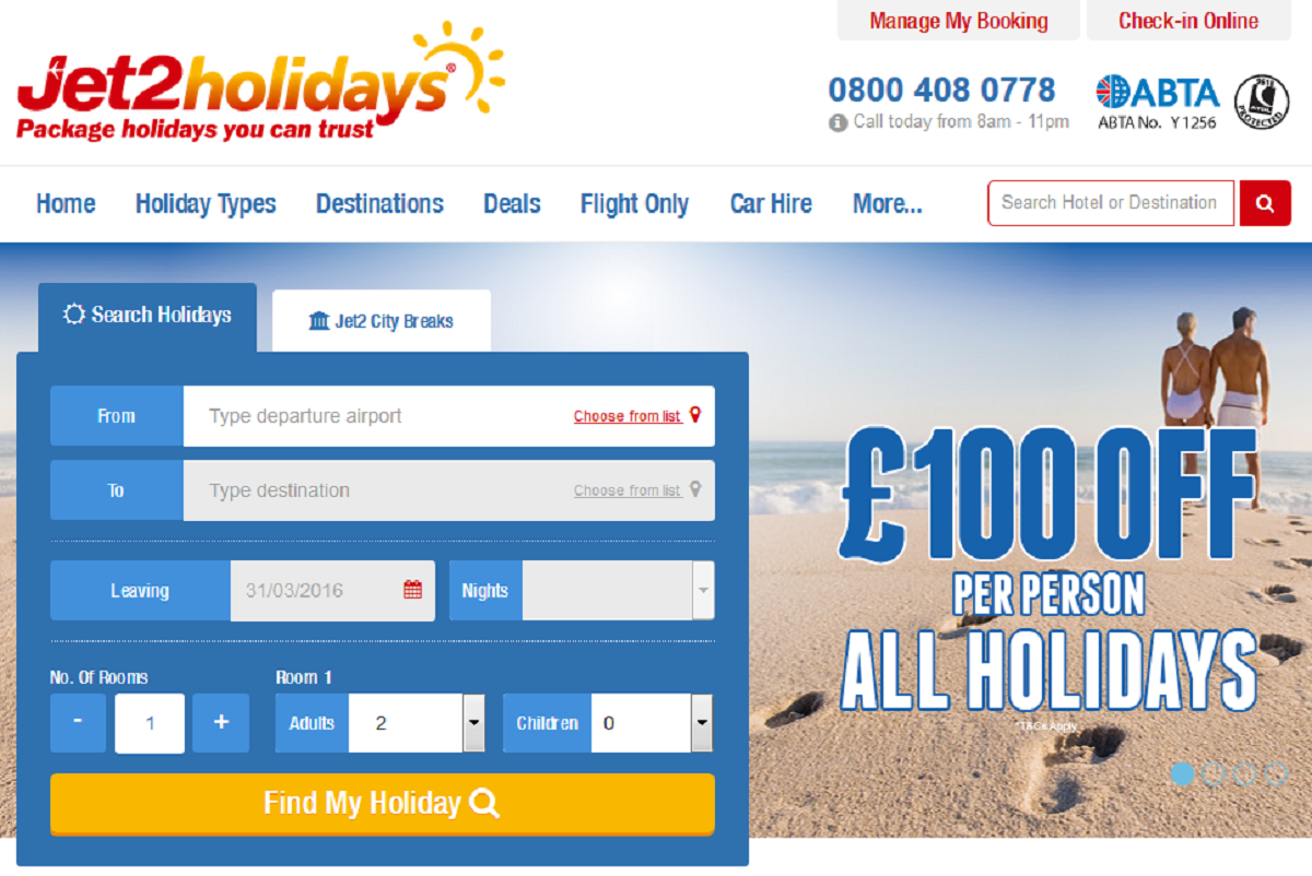 Jet2 Holidays Special Offer