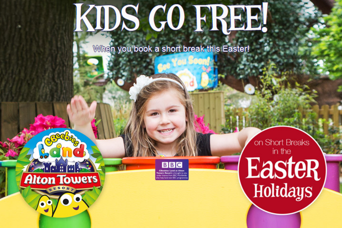 Alton Towers Kids Go FREE this Easter