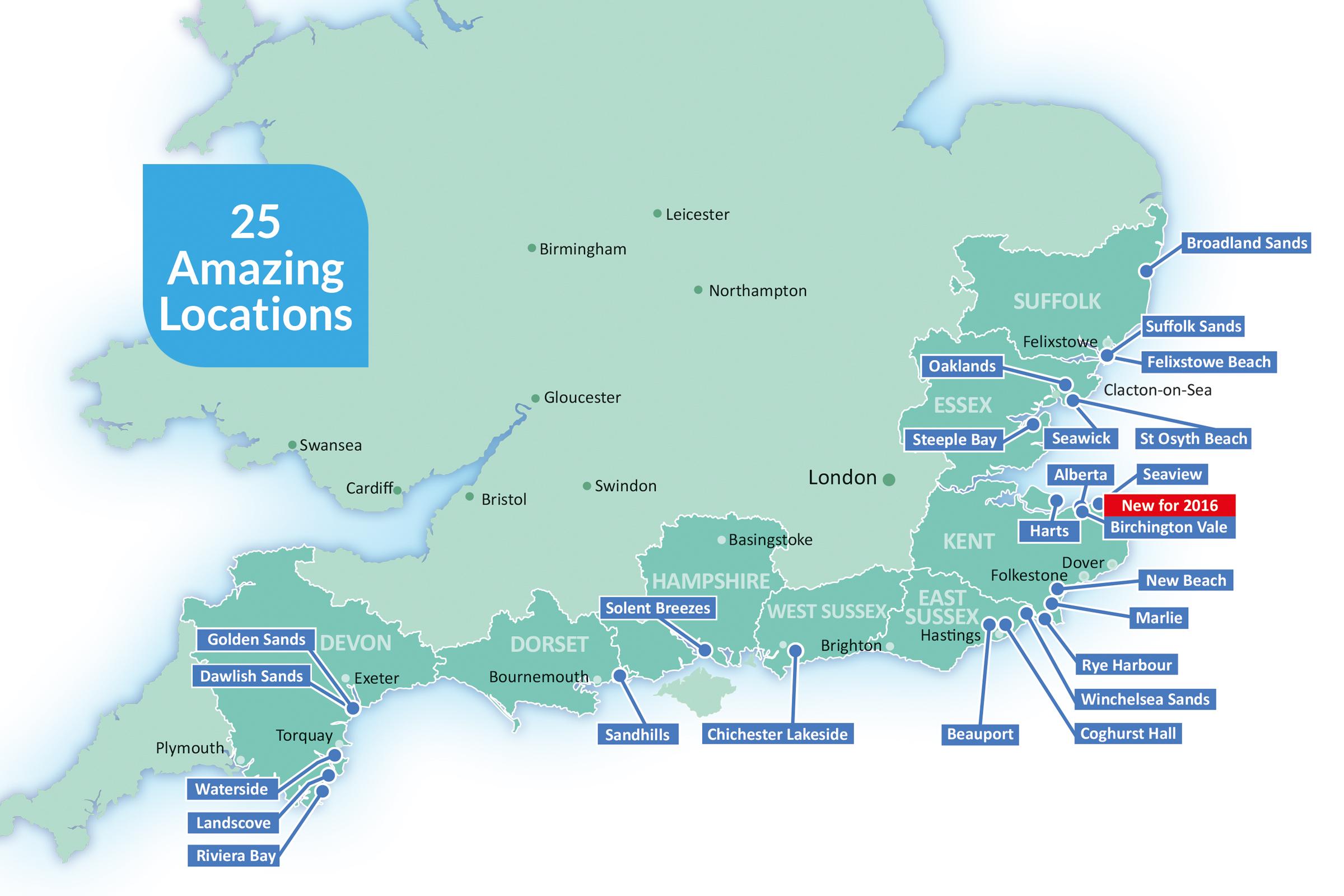 Park Holidays 25 locations