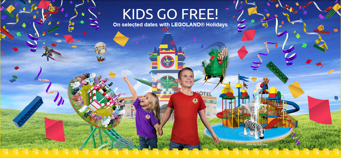Legoland Kids go free toddler breaks