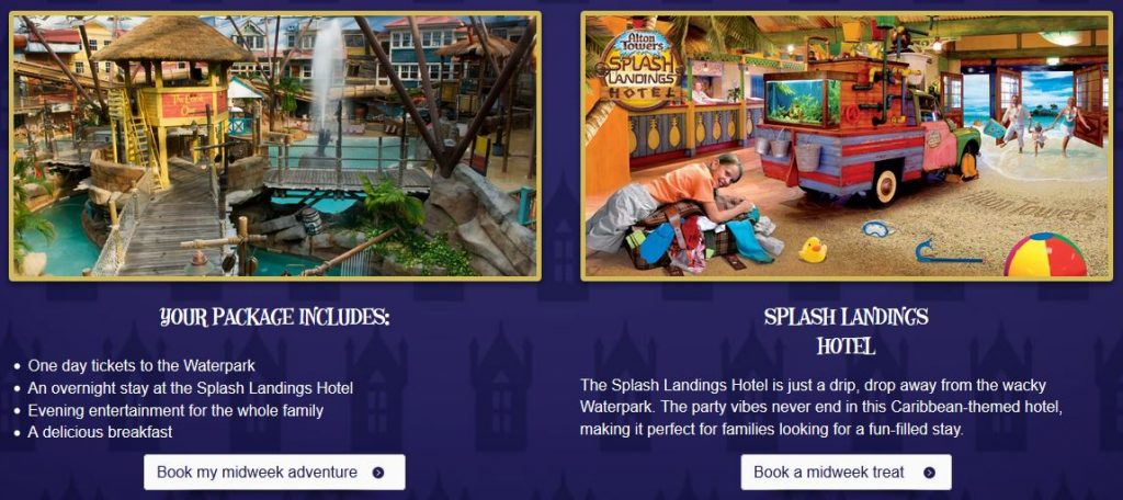 Alton Towers Splash Landings Special Offer