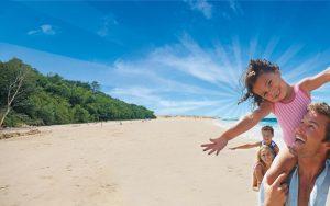 Toddler Breaks Beach