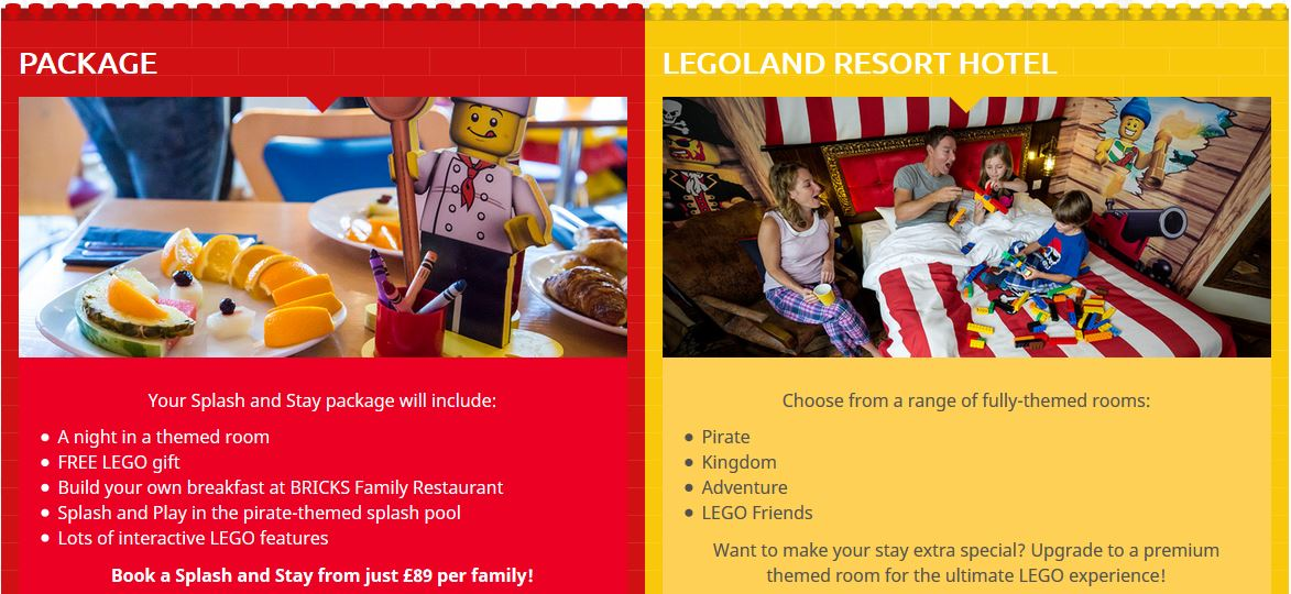 Splash and stay Special offer with Toddler Breaks. Legoland Splash And Stay Offer
