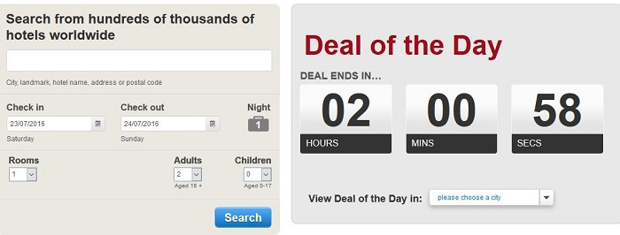 Hotels.com special offers