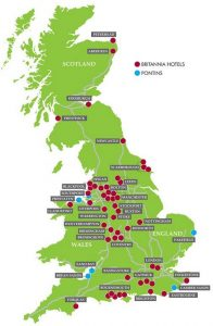 Map of Britannia Hotels