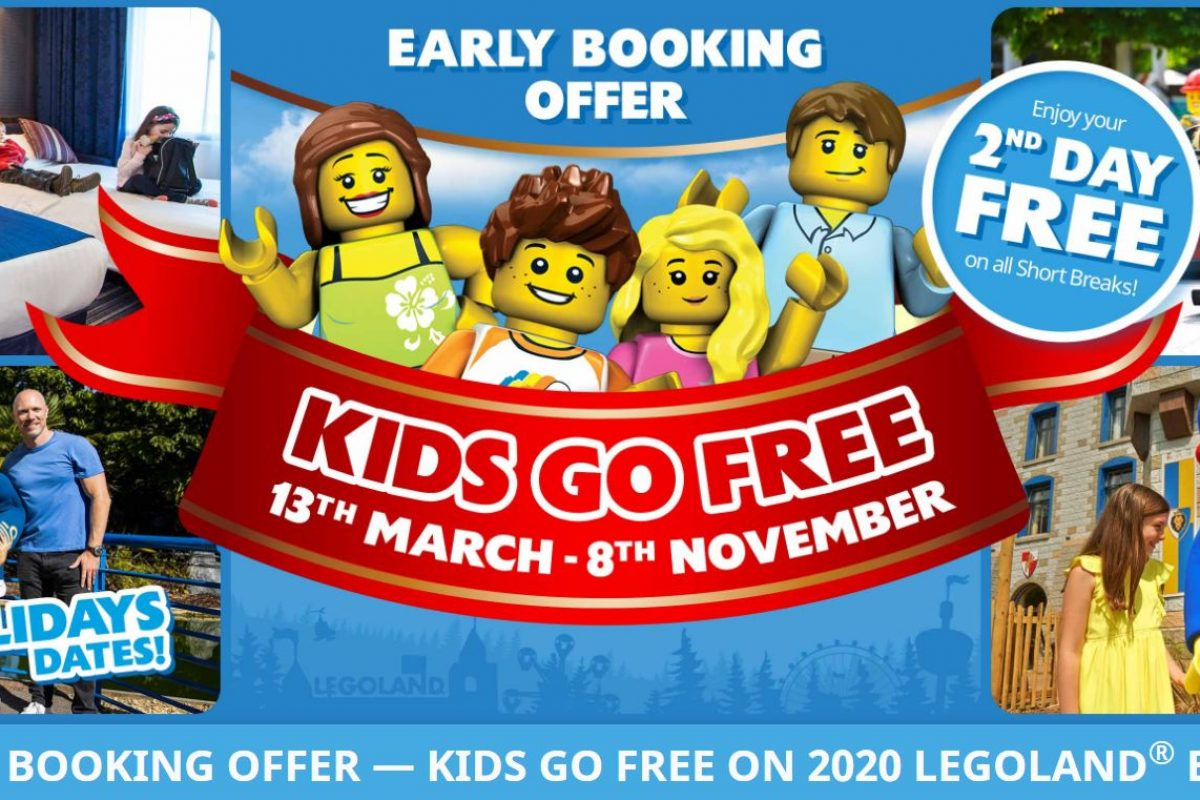 "<span class=""hot"">Hot <i class=""fa fa-bolt""></i></span> Legoland special offer kids go free"