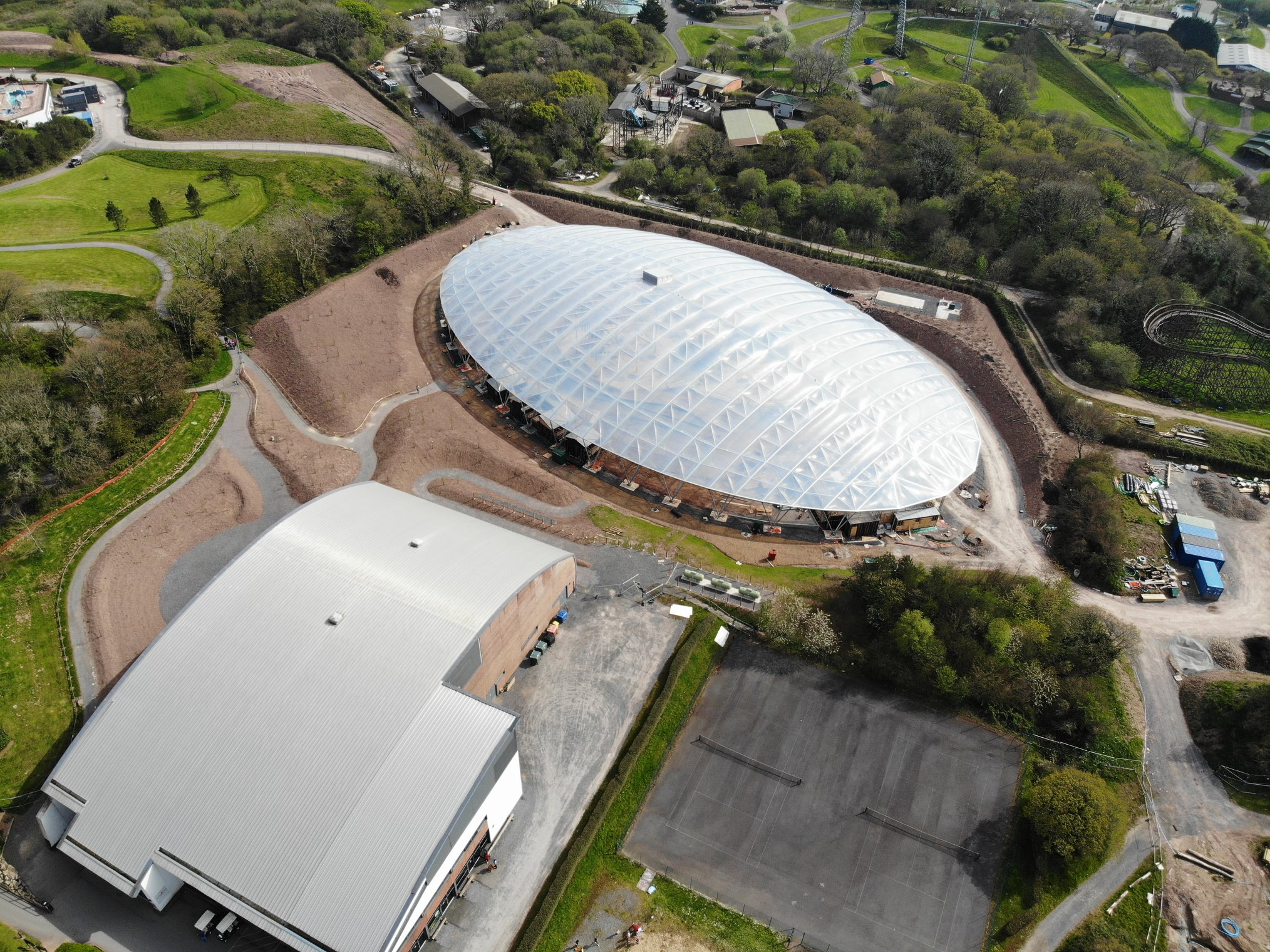 Serendome from the air at Bluestone